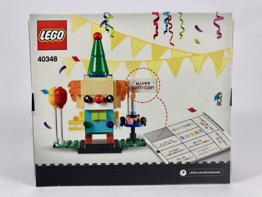 Birthday Clown Lego Brickheadz 40348 Review Brickonaute